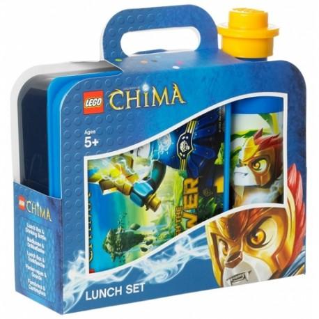 LEGO Pojemnik na Śniadanie + Bidon CHIMA Niebieski