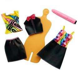 MATTEL FHW85 FHW86 - Zestaw Barbie Crayola - TĘCZOWE WZORY RÓŻ