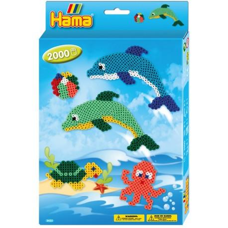 Hama - Midi - 3435 - Koraliki Kolorowe - Zestaw Delfiny 2000 szt