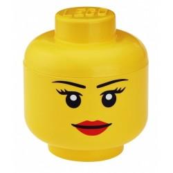 LEGO Pojemnik Głowa Duża L Dziewczynka 0209