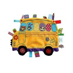 Label Label - HO1353 - Przytulanka z Metkami - Holiday - Autobus - Żółty