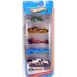Mattel - X9854 - HW Stunt - Hot Wheels Test Facility - Zestaw 5 samochodzików