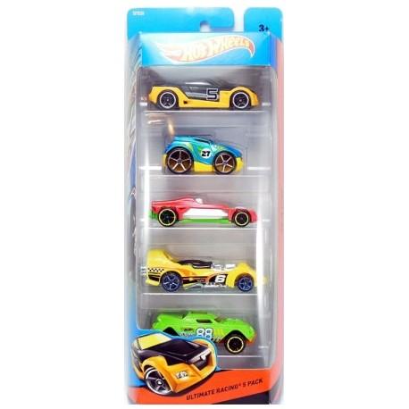 Mattel - BFB39 - HW Race - Ultimate Racing - Zestaw 5 samochodzików