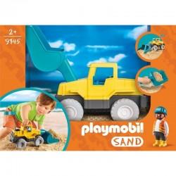 PLAYMOBIL 9145 Sand - ZESTAW DO ZABAWY W PIASKU - Koparka