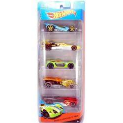 Mattel - BFB25 - HW Race - Double Jump Duel - Zestaw 5 samochodzików