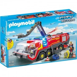 PLAYMOBIL 5337 CITY ACTION Pojazd strażacki na lotnisku ze światłem
