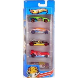 Mattel - X9855 - HW Race - Triple Track Twister - Zestaw 5 samochodzików