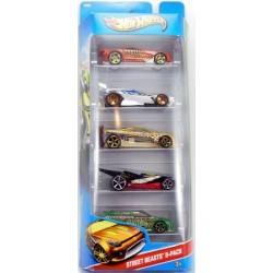 Mattel - X9853 - HW City - Street Baests - Zestaw 5 samochodzików