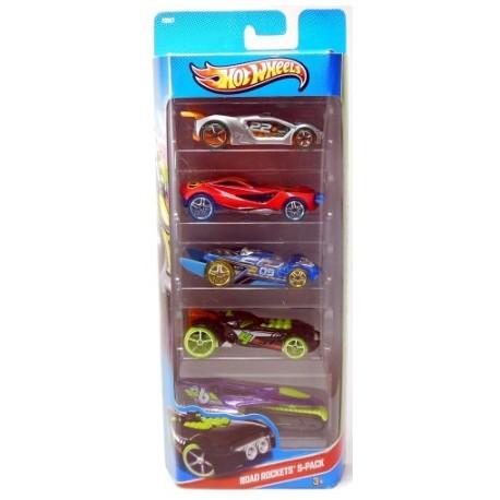 Mattel - X9857 - HW City - Road Rockets - Zestaw 5 samochodzików