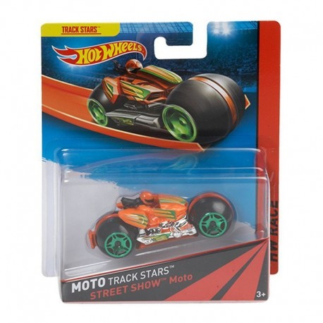 Mattel - BDN36 - HW Race - Moto Track Stars - Street Show Moto - Pomarańczowy