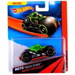 Mattel - BDN36 - HW Race - Moto Track Stars - Moto - Crossed - Zielony