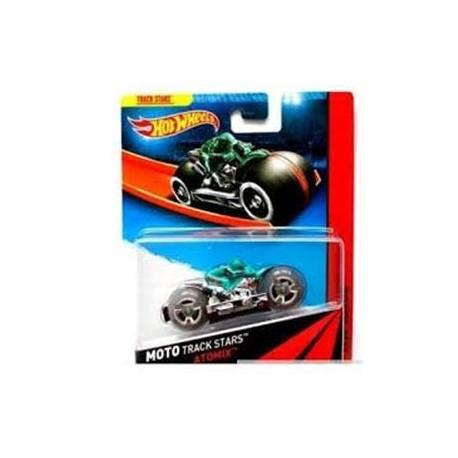 Mattel - BDN36 - HW Race - Moto Track Stars - Atomix - Srebrny