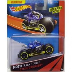 Mattel - BDN36 - HW Race - Moto Track Stars - Cycle Crusher - Niebieski