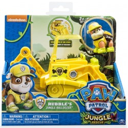 SPIN MASTER Psi Patrol Figurki Akcji Jungle Rescue z Pojazdem RUBBLE 9020