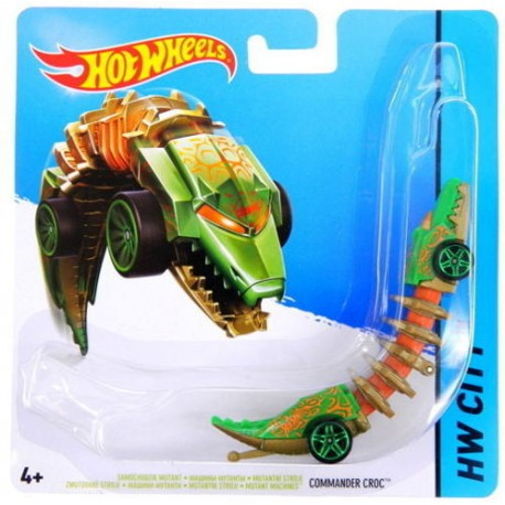 Mattel - BBY79 - HW City - Hot Wheels Mutant - Commander Croc