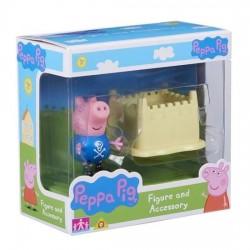 TM TOYS Świnka Peppa George z Zamkiem 63818