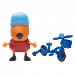 TM TOYS Świnka Peppa Freddy z Rowerem 63818
