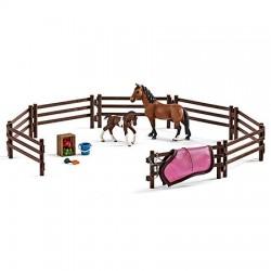 SCHLEICH 42405 - Figurki Zwierząt - Horse Club - RODZINA KONI HANOWERSKICH NA PASTWISKU