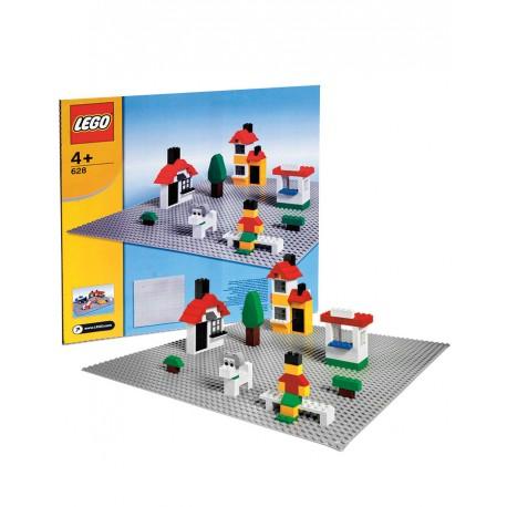 LEGO 628 Popielata Duża Płytka Konstrukcyjna