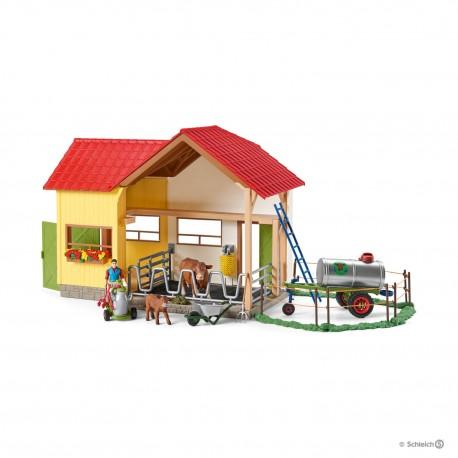 SCHLEICH 42394 - Farm World - Zestaw Farma z Figurkami Zwierząt - CODZIENNE ŻYCIE NA FARMIE