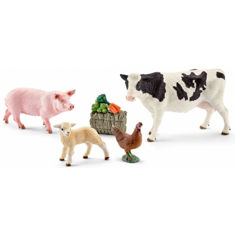 f7a689fe5ce54 SCHLEICH 41424 - Farm World - Figurki Zwierząt - MOJE PIERWSZE ZWIERZĘTA W  GOSPODARSTWIE