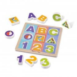 Melissa & Doug Puzzle Drewniane ABC 1-2-3 11899