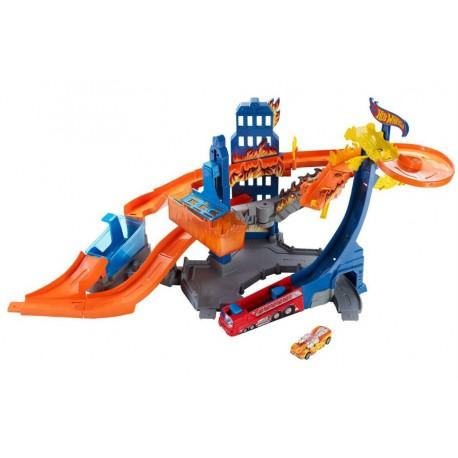 Mattel - BGK05 - Hot Wheels - HW City - Zestaw Płonący Wieżowiec