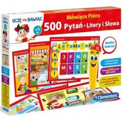 CLEMENTONI Uczę się Bawiąc Mówiące Pióro 500 PYTAŃ LITERY I SŁOWA 60961