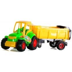 WADER POLESIE Mistrz Traktor z Naczepą ZIELONY 0445