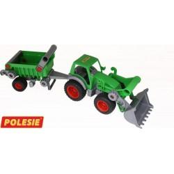 WADER POLESIE Traktor z Naczepą FARMER-TECHNIK 8718