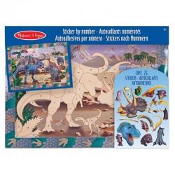Melissa & Doug - 14007 - Naklejki - Mozaika do Wyklejania - Dinozaury