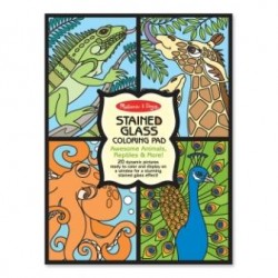 Melissa & Doug - 14385 - Kolorowanki Witrażowe - Zwierzęta