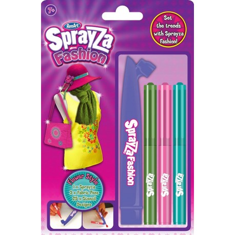 RentArt - 6004 - SprayZa - Fashion - Kwiatki - 3 Flamastry