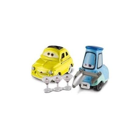 Mattel - BCJ61 - Disney Pixar - Auta - Luigi i Guido - Shaker i kieliszki