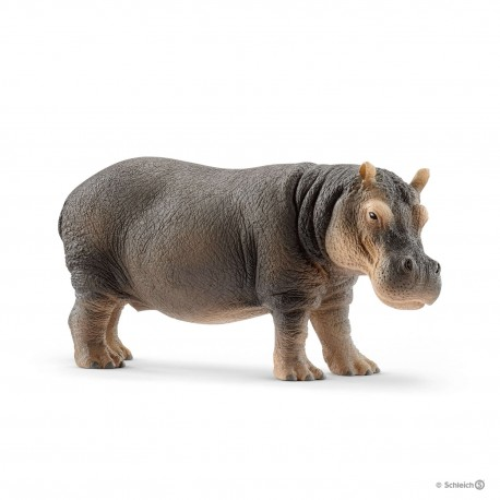 SCHLEICH 14814 - Figurki Dzikich Zwierząt - HIPOPOTAM