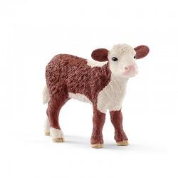 SCHLEICH 13868 - Figurki Zwierząt Wiejskich - CIELĘ RASY HEREFORD