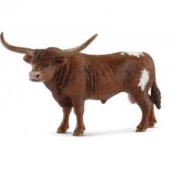 SCHLEICH 13866 Figurki Zwierząt Wiejskich TEKSAŃSKI BYK DŁUGOROGI