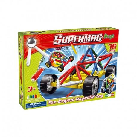 SUPERMAG MAXI Magnetyczne Klocki Konstrukcyjne Maxi Wheels 76 Elementów 0107