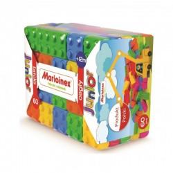 MARIOINEX Klocki Cegły Junior Zestaw Konstrukcyjny 60 Elementów 90170