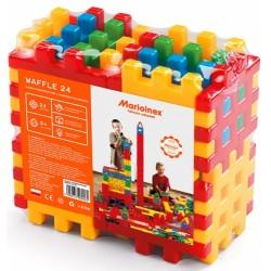 MARIOINEX Klocki Wafle Zestaw Konstrukcyjny 24 Elementy 90006