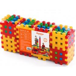 MARIOINEX Klocki Wafle Zestaw Konstrukcyjny 48 Elementów 90026