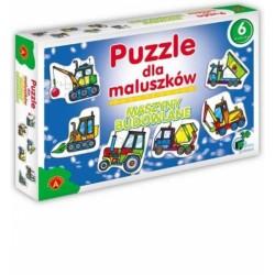 ALEXANDER Puzzle dla Maluszków MASZYNY BUDOWLANE 5417
