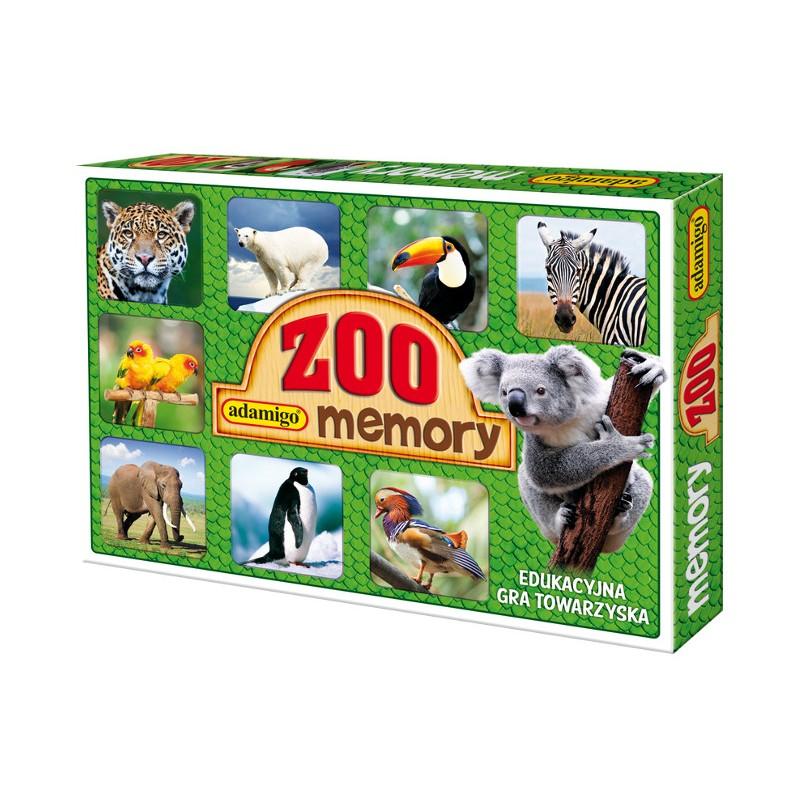 9bdd423d639747 ADAMIGO Gra Memory Prawdziwe Zwierzęta - MEMO ZOO 3051 ...