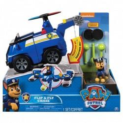 SPIN MASTER Psi Patrol Figurka z Pojazdem Flip&Fly Transformujący Radiowóz Odrzutowiec CHASE 6037883 8695