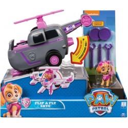 SPIN MASTER Psi Patrol Figurka z Pojazdem Flip&Fly SKYE Transformujący Helikopter Odrzutowiec 6037883 8697