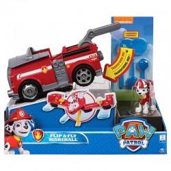 SPIN MASTER 6037883 8696 Psi Patrol Figurka z Pojazdem Flip&Fly Transformujący Wóz Strażacki Odrzutowiec MARSHALL 6037883 8696
