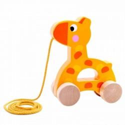 TOOKY TOY Drewniana Żyrafa do Ciągnięcia TKC266