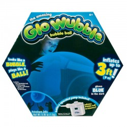 COBI 72281 - Amazing Glo Wubble - Zestaw BAŃKOPIŁKA 90 cm z Pompką - ŚWIECĄCA W CIEMNOŚCI NIEBIESKA