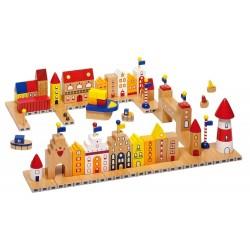 Goki - 58860 - Drewniane Klocki - Mój Mały Port