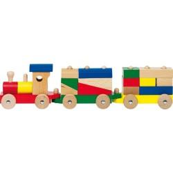Goki - WP304 - Drewniany Pociąg z Klockami